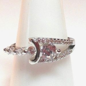 Ring Size 8 Simulated Diamond Wedding 112